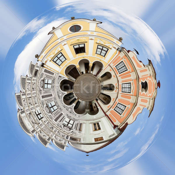 Planet of city Telc, Czech Republic Unesco Stock photo © artush
