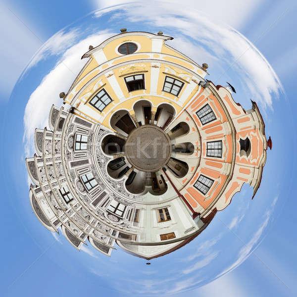 Bolygó város Csehország unesco csetepaté házak Stock fotó © artush