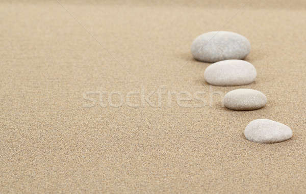zen stones in sand Stock photo © artush