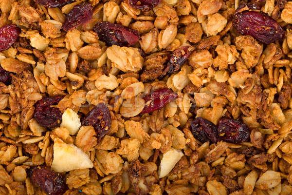Egészséges házi készítésű granola müzli aszalt mazsola Stock fotó © artush