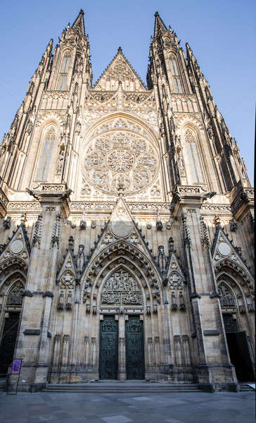 Stock photo: st. vitus cathedral in prague czech republic