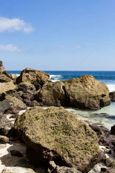 rock formation on coastline at Nusa Penida island  Stock photo © artush