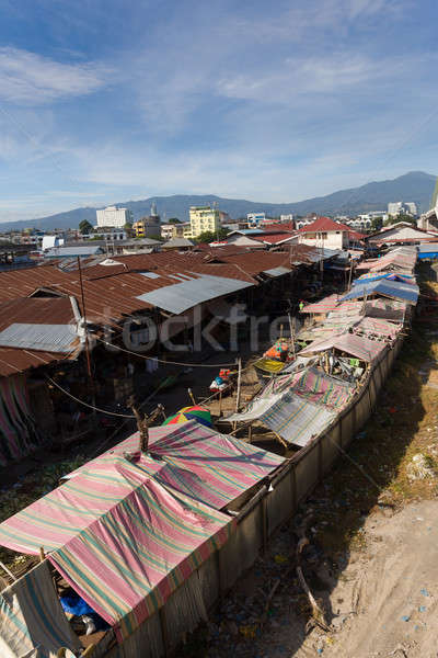 roof of poor houses by the river Stock photo © artush