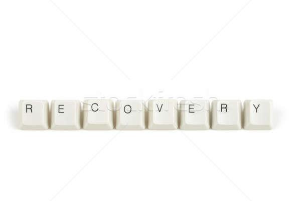 Gyógyulás billentyűzet kulcsok fehér szöveg izolált Stock fotó © artush