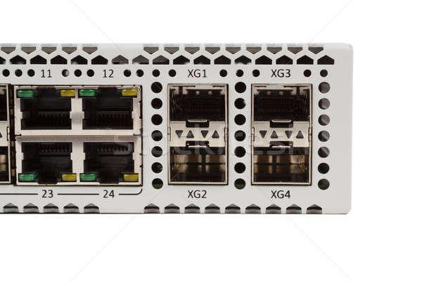 Ethernet değiştirmek detay lif optik Stok fotoğraf © artush