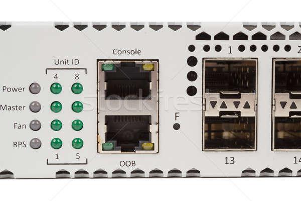 Ethernet schakelaar sleuf vezel module Stockfoto © artush