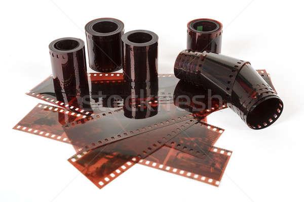Görüntü eski negatif film şeridi doku Stok fotoğraf © artush