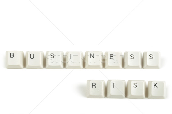 Сток-фото: бизнеса · риск · клавиатура · ключами · белый · текста