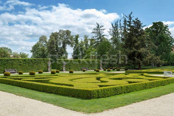 Giardino noto barocco Repubblica Ceca cielo primavera Foto d'archivio © artush