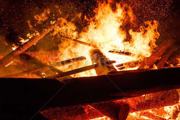 Grande fuego enorme llamas textura Foto stock © artush