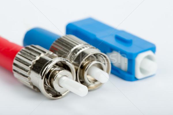 Fibra ótico computador internet contato rede Foto stock © artush