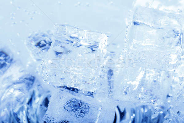 backgrounds with ice cubes in sparkling water  Stock photo © artush