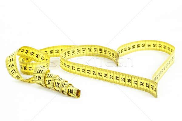 Stok fotoğraf: şerit · metre · kalp · şekli · sağlık · ağırlık · kalp