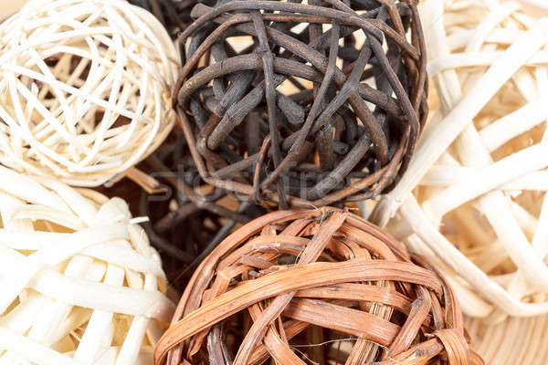 A decorative wicker wooden balls Stock photo © artush