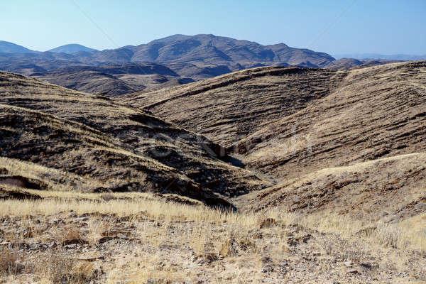 Намибия пейзаж города фон лет синий Сток-фото © artush
