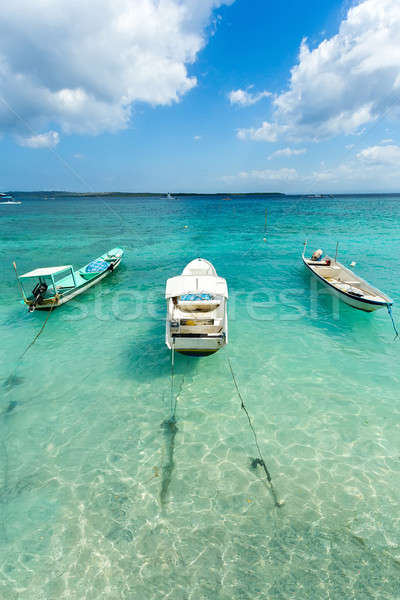 Wenig Boote Strand Indonesien Pastell Stock foto © artush