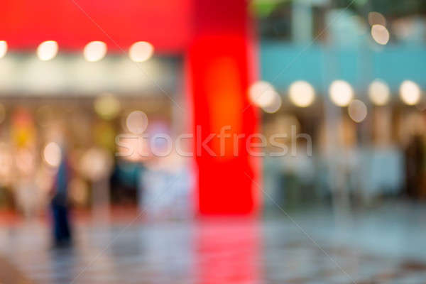 Offuscata shopping centro fuori focus shot Foto d'archivio © artush