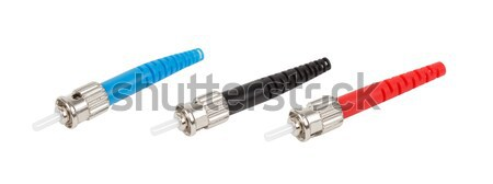 ST fiber optic connectors isolated Stock photo © artush