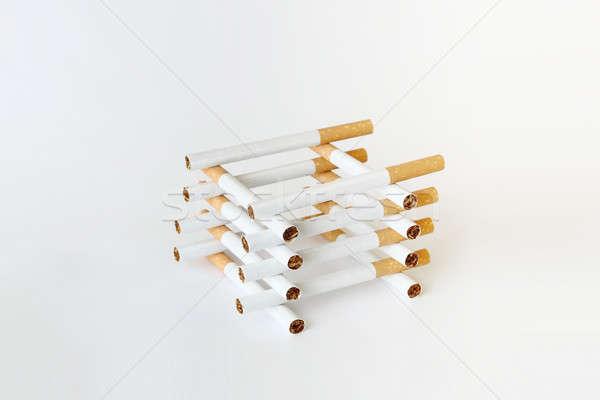 сигареты белый Nice опасность остановки рак Сток-фото © artush