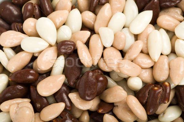 nuts in chocolate Stock photo © artush