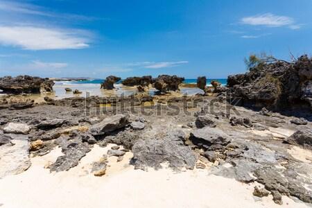 Tengerpart Madagaszkár gyönyörű indiai óceán festői Stock fotó © artush