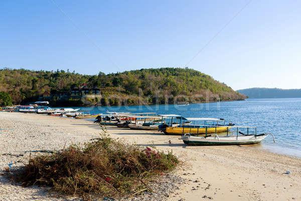 Pequeno barcos praia bali Indonésia romântico Foto stock © artush