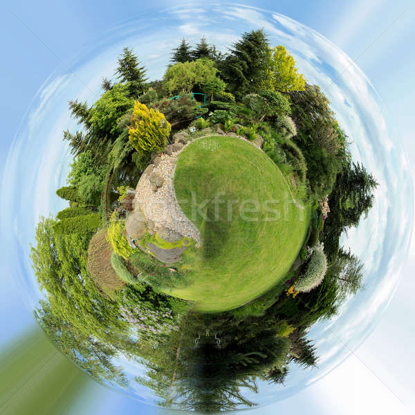 Stock photo: planet of Beautiful spring garden design
