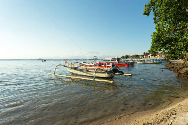 sand beach with boat, Bali Indonesia Stock photo © artush