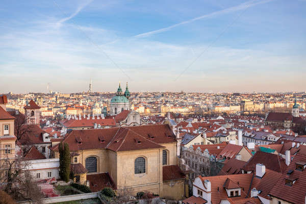 Stock photo: December advent Prague cityscape photo
