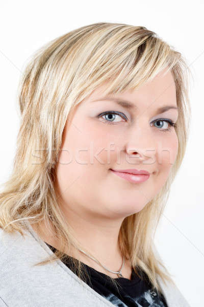 cute smiling relaxing plump woman Stock photo © artush