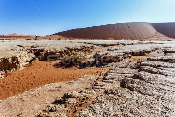 Belo paisagem morte vale nascer do sol escondido Foto stock © artush