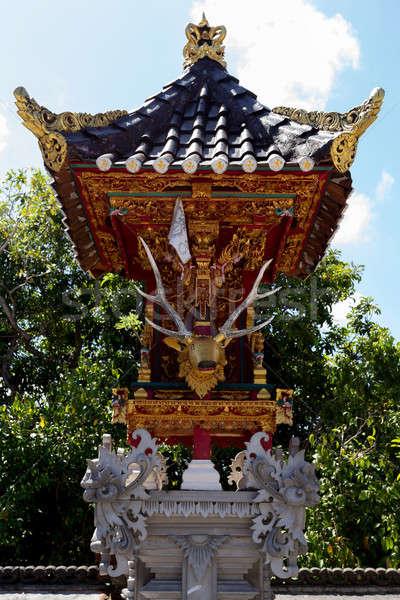 ünlü araba tapınak bali Endonezya manzara Stok fotoğraf © artush