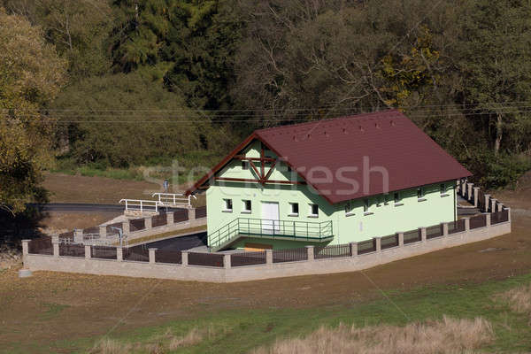 rural wastewater treatment plant Stock photo © artush