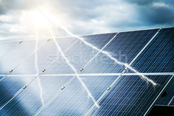 abstract concept of power plant using renewable solar energy Stock photo © artush