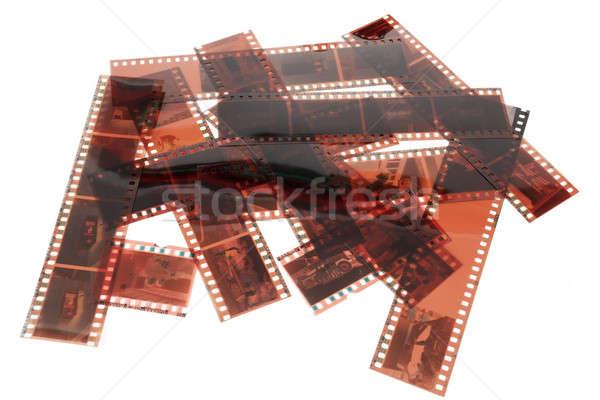 Image vieux négatifs bande de film texture Photo stock © artush