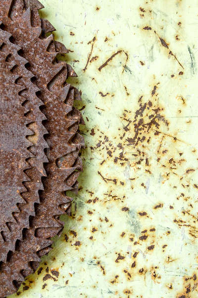 old rusted circular saw blades Stock photo © artush