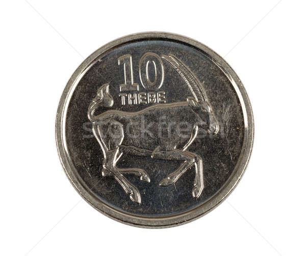 Detail of Botswana Pula thebe coin Stock photo © artush
