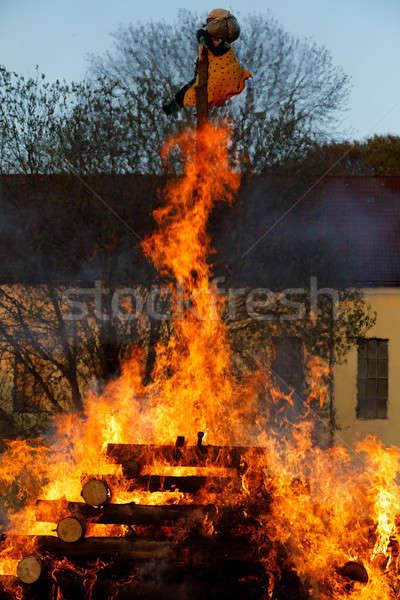 big fire, burning witches Stock photo © artush