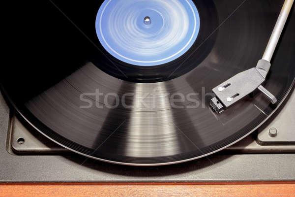 Vintage tourne-disque vinyle image détail Photo stock © artush