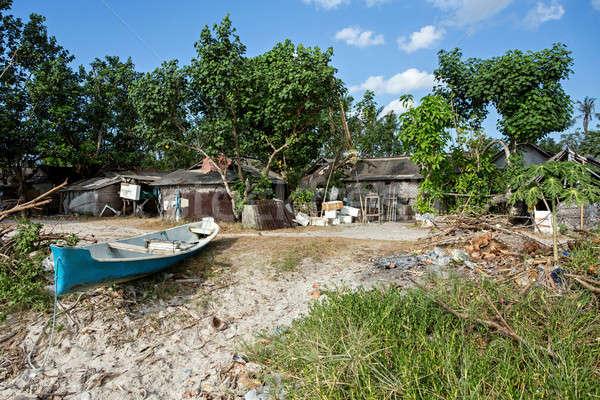 indonesian house - shack on beach Stock photo © artush