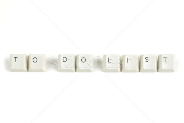to do list from scattered keyboard keys on white Stock photo © artush