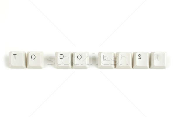 Para fazer a lista teclado teclas branco texto isolado Foto stock © artush
