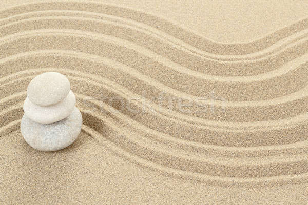 Saldo zen pedras areia três abstrato Foto stock © artush