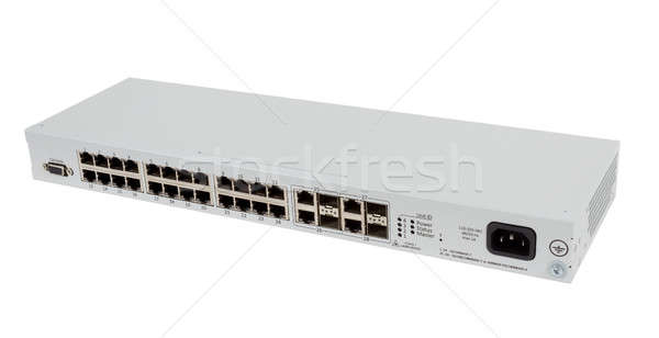 Wechseln isoliert professionelle Netzwerk weiß Combo Stock foto © artush