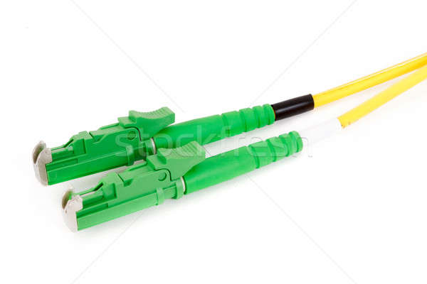 green fiber optic E2000 connector Stock photo © artush