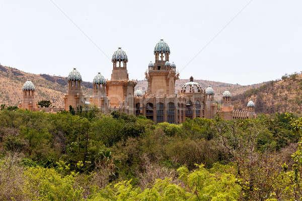 Panorama sol cidade palácio perdido África do Sul Foto stock © artush