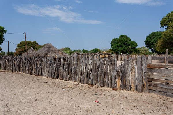 традиционный африканских деревне домах забор Сток-фото © artush