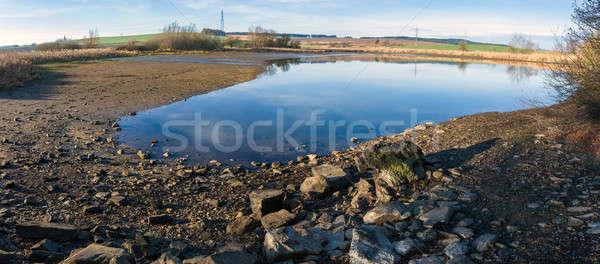 Stagno inverno cielo blu scena rurale panorama acqua Foto d'archivio © artush