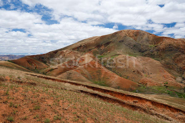 Stock photo: Madagascar countryside highland landscape