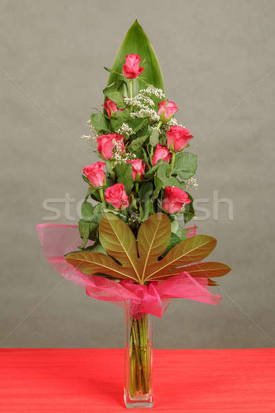 bouquet of red roses in vase  Stock photo © artush